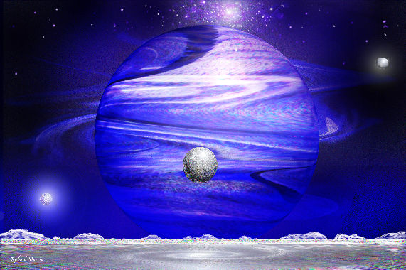 purple and blue planets - photo #12